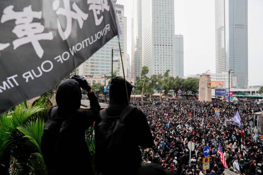 احتجاجات مناهضة للحكومة في هونغ كونغ. (رويترز)