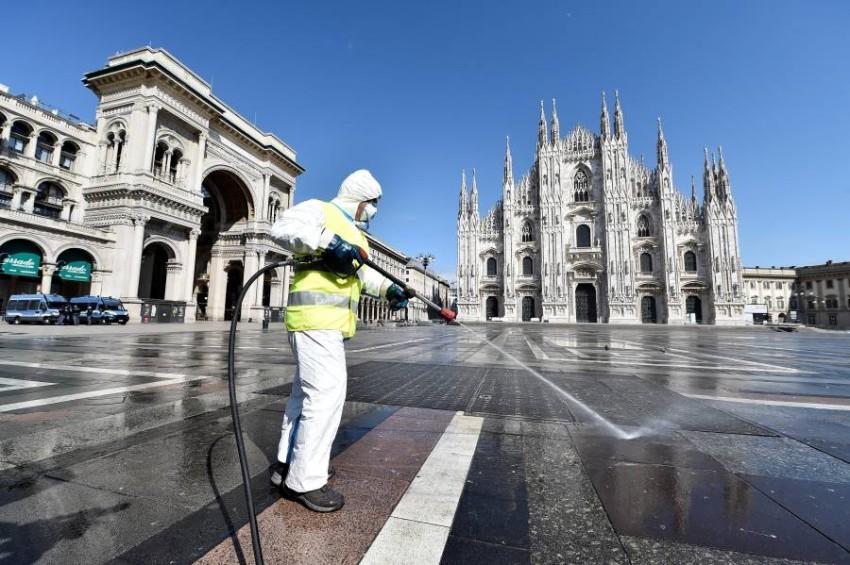 شوارع ايطاليا خالية تماماً بعد أزمة كورونا - رويترز