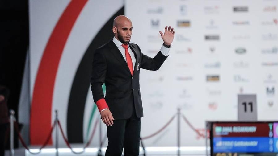 مدرب منتخبنا الوطني لناشئي الجوجيتسو، إبراهيم الحوسني. (وام)
