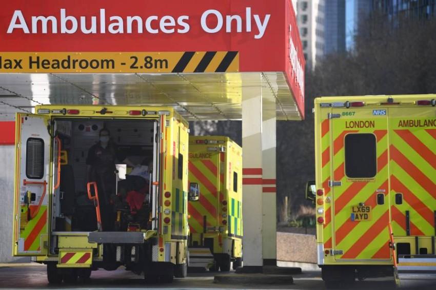 سيارات إسعاف في لندن. (أ ف ب)