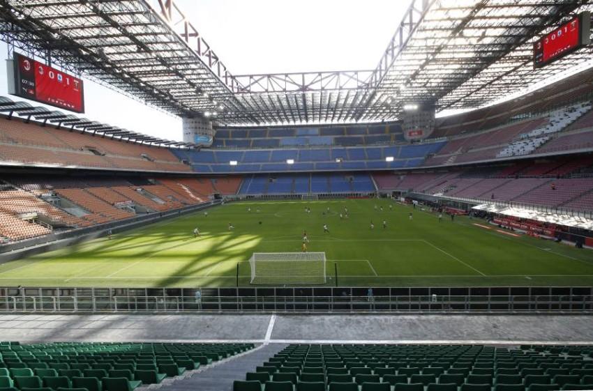 ملعب سان سيرو الشهير في مدينة ميلانو. (أ ب)