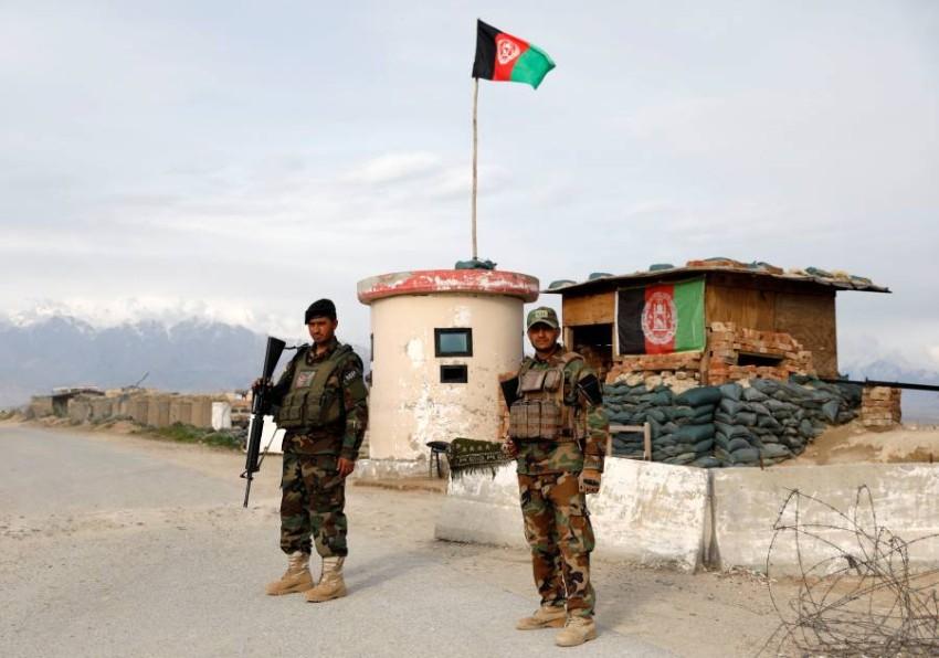 أفراد أمن أفغان في كابول. (رويترز)