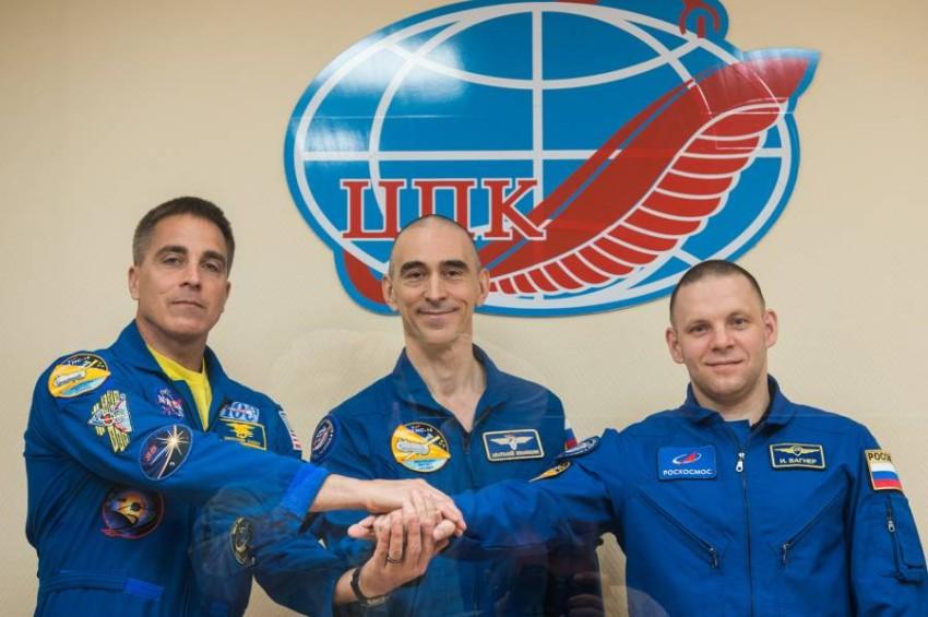 انطلاق مهمة فضاء أمريكية-روسية اليوم. (أ ف ب)
