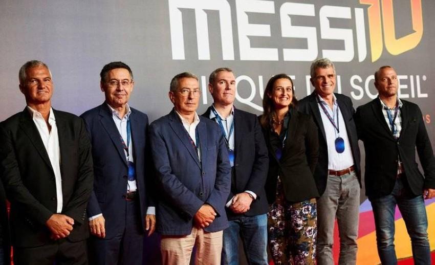 مجلس إدارة برشلونة كما بدا أخيراً. (أ ف ب)