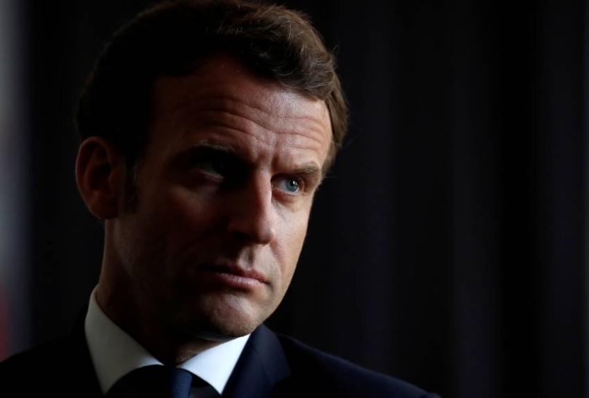 الرئيس الفرنسي إيمانويل ماكرون. (رويترز)