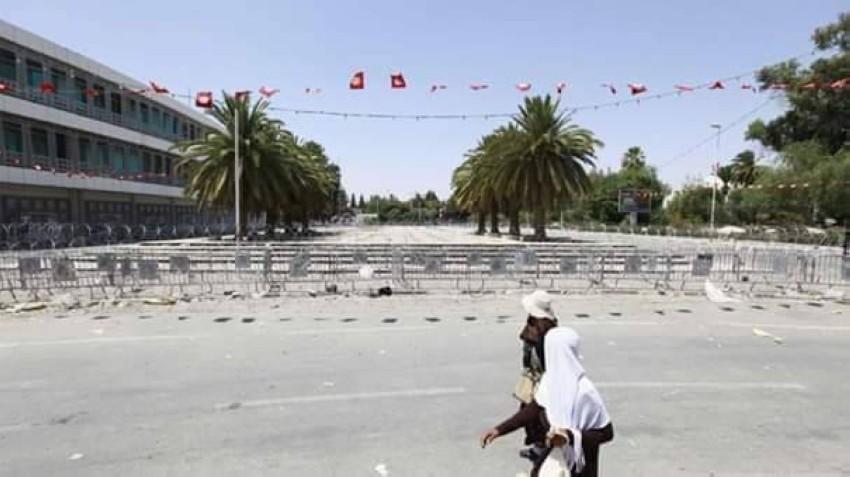 ساحة مجلس نواب الشعب في تونس. (الرؤية)