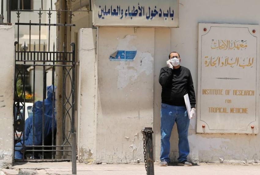 مصر تسجل وفيات وإصابات جديدة بكورونا. (رويترز)