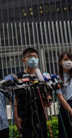 نشطاء هونغ كونغ يناشدون المجتمع الدولي التصدي لقانون الأمن الوطني. (إي بي أيه)