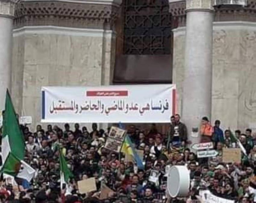 صورة سابقة من الحراك الشعبي بالعاصمة الجزائرية. (الرؤية)
