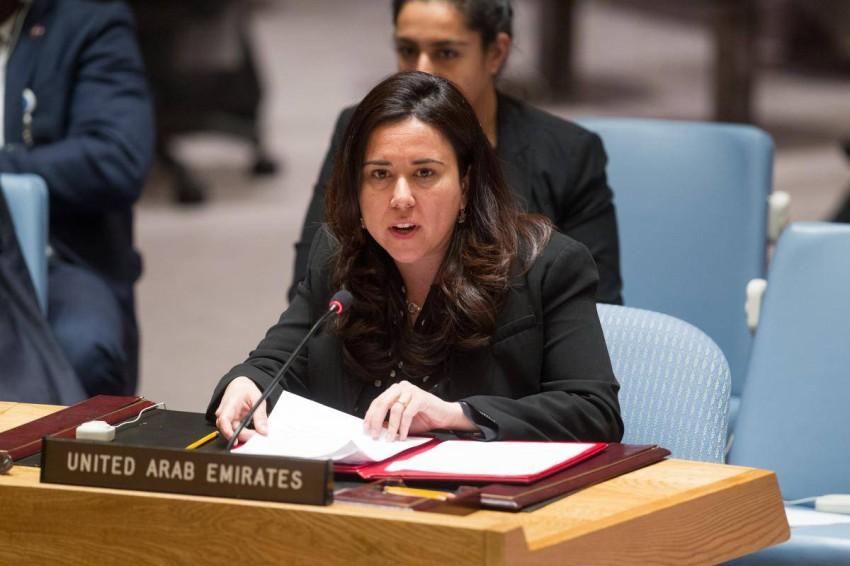 المندوبة الدائمة للإمارات لدى الأمم المتحدة لانا نسيبة.