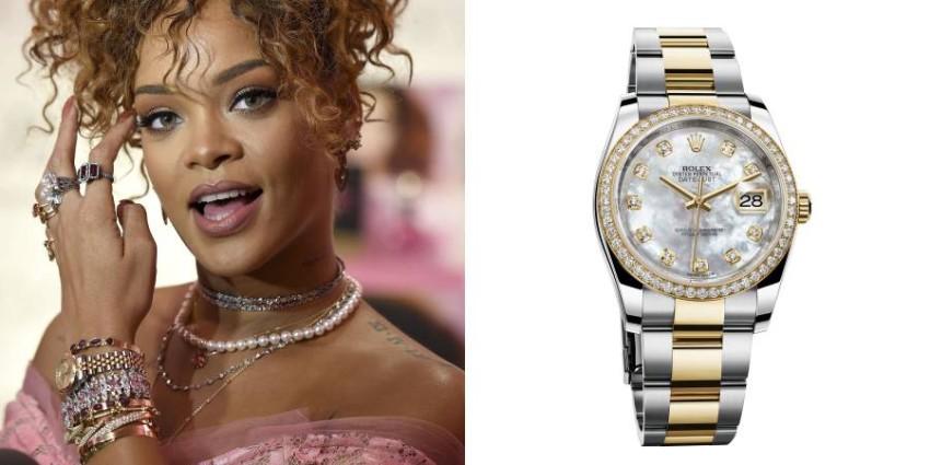 ريهانا ترتدي ساعة رولكس