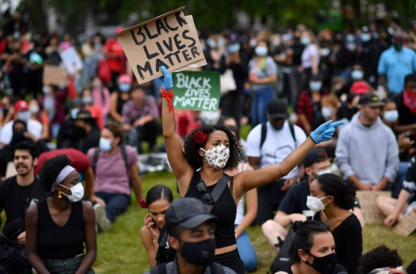 الاحتجاجات متواصلة في الولايات المتحدة. (أ ف ب)