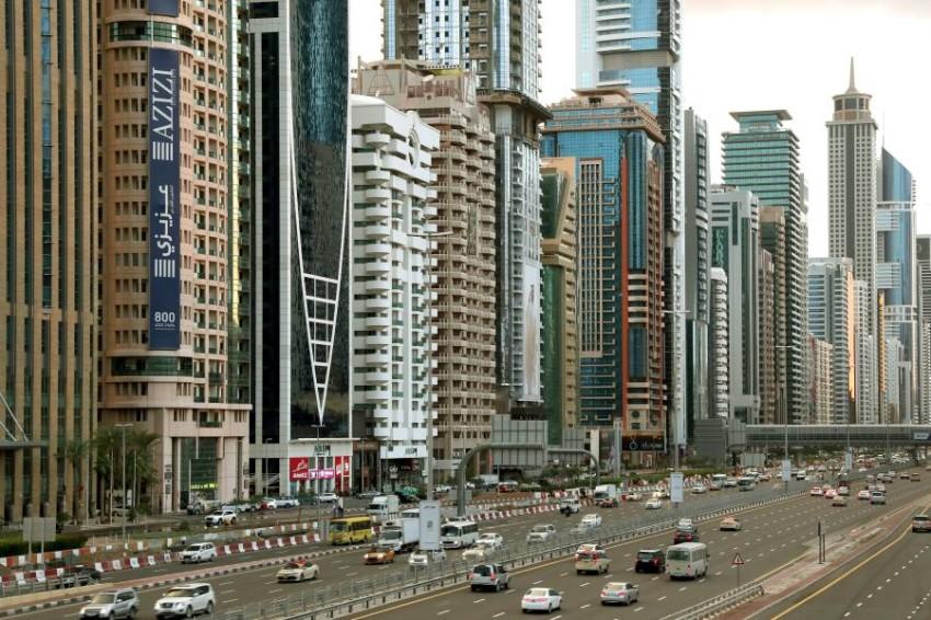 أبراج و مبان، شارع الشيخ زايد، دبي. (تصوير: عماد علاءالدين)