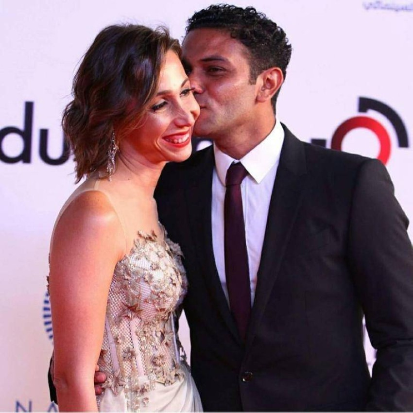 اسر ياسين وزوجته