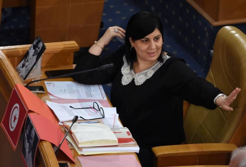 رئيسة كتلة الدستوري الحر عبير موسي. أ ف ب