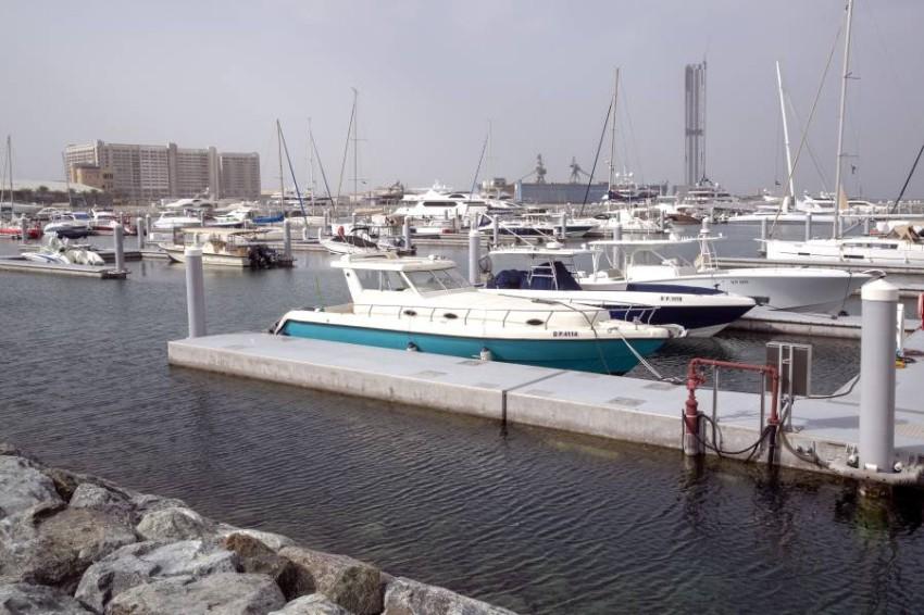 مرسى ميناء راشد. (تصوير عماد علاءالدين)
