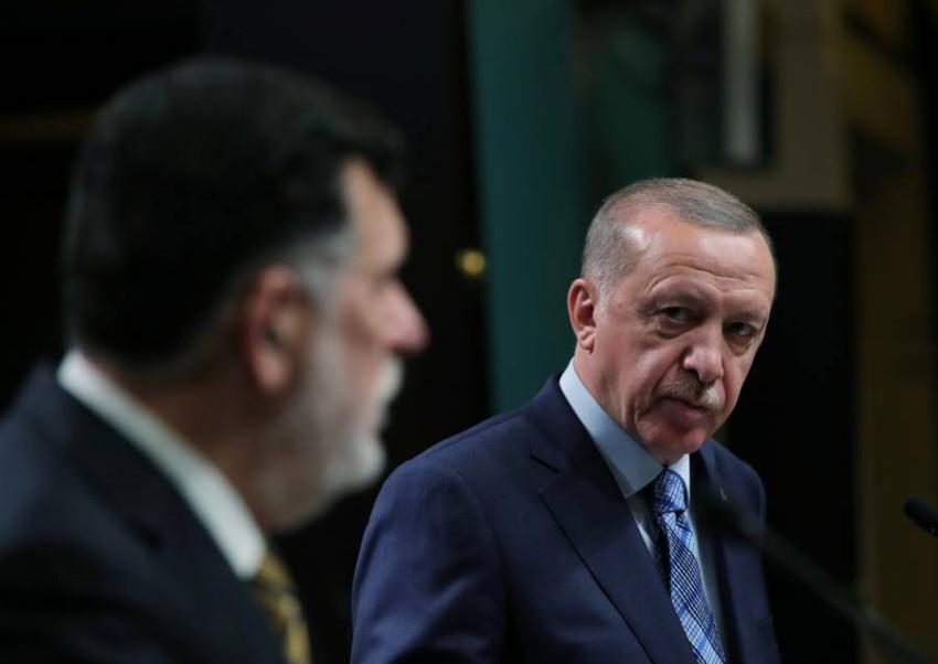 أردوغان والسراج.(رويترز)