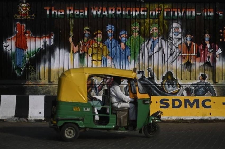 توقعات بتسجيل نصف مليون إصابة بكورونا في دلهي. (أ ف ب)