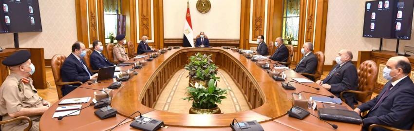 السيسي يبحث تطورات الوضع في ليبيا وملف سد النهضة. (من المصدر)