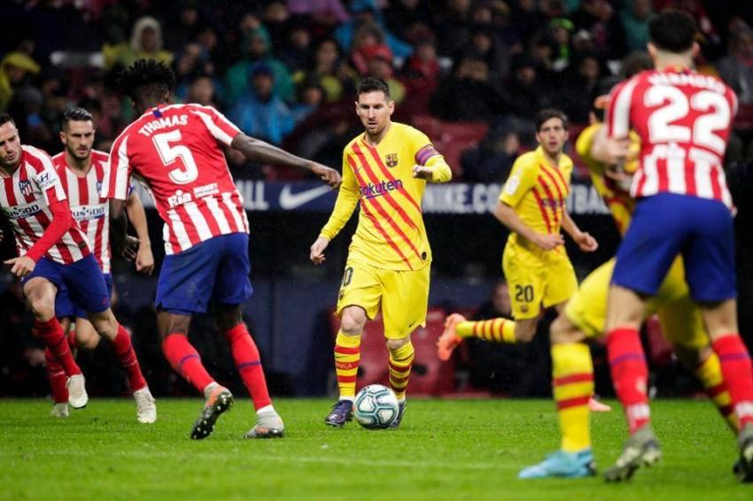 برشلونة أمام أتلتيكو مدريد.