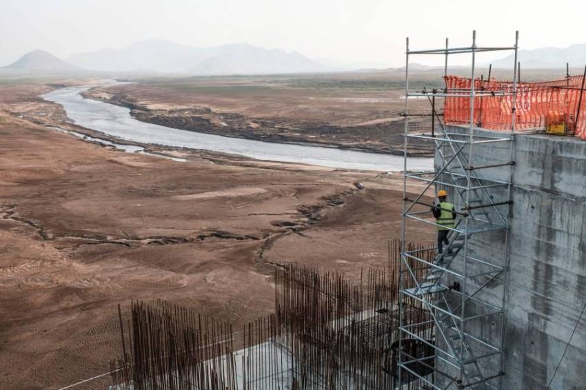 مشروع سد النهضة. (أ ف ب)