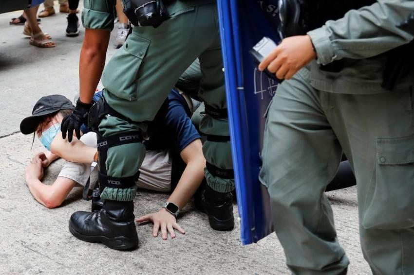 الصين تهدد بإجراءات مضادة ضد دول بسبب هونغ كونغ. (رويترز)