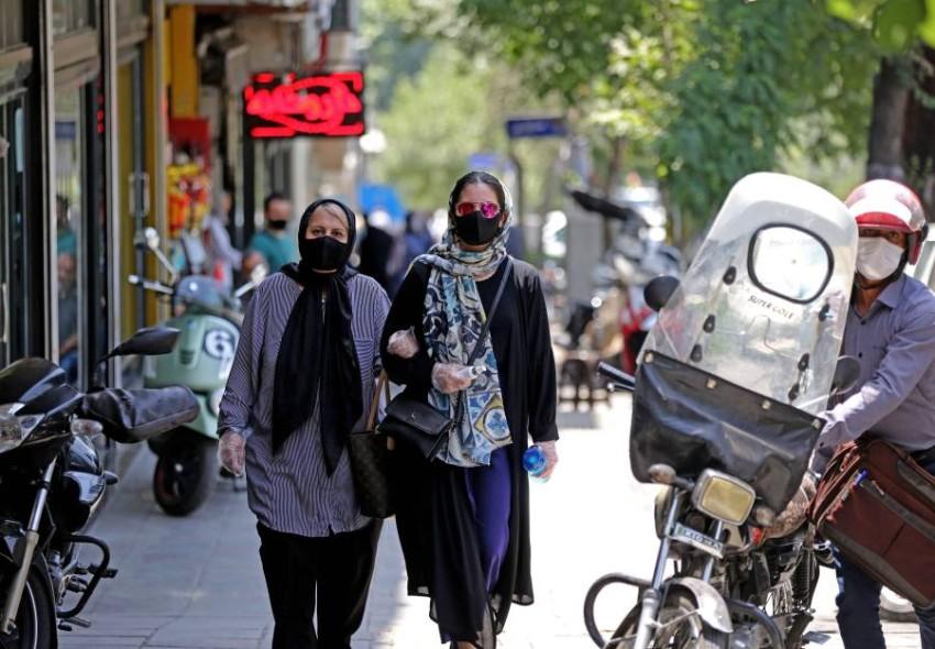 تزايد حالات الإصابة بفيروس كورونا في إيران. (أ ف ب)