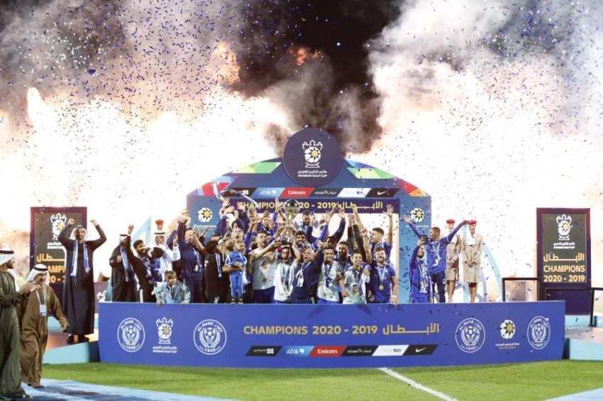 النصر بطل آخر نسخة في كأس الخليج العربي. (الرؤية)