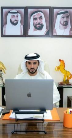 راشد بن حميد النعيمي مخاطباً عمومية الاتحاد. (الرؤية)