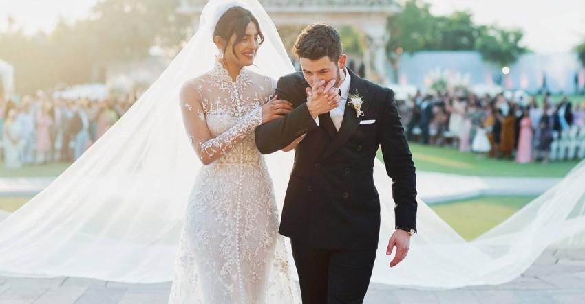 فستان زفاف بريانكا تشوبرا الأفخم في التاريخ