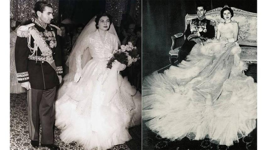 فستان زفاف امبراطورة إيران ثريا اسفنجياري
