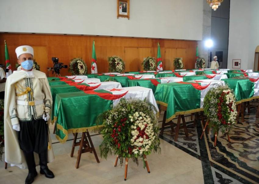 بانتظار مراسم دفن رسمية لجماجم الشهداء. (إي بي أيه)