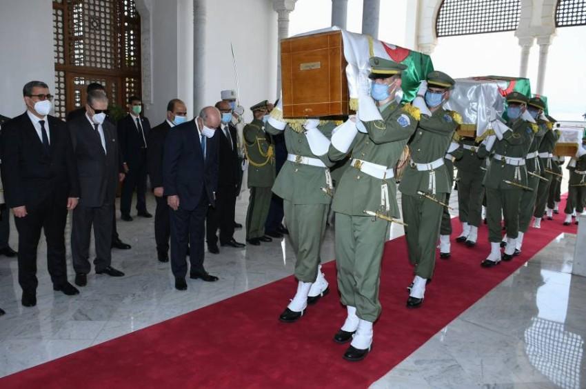 بانتظار مراسم دفن رسمية لجماجم الشهداء. (أ ف ب)