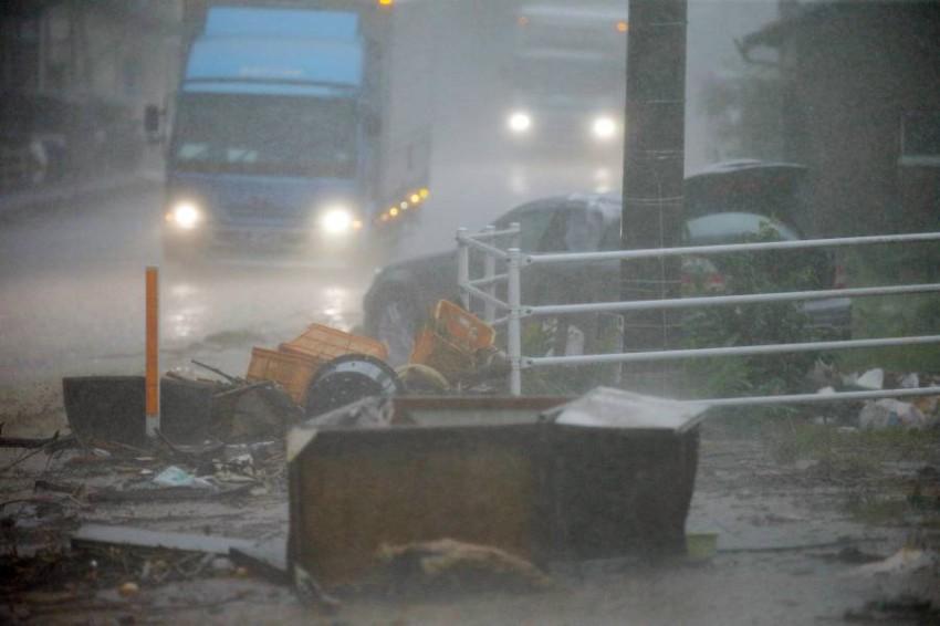 آثار الدمار جراء الفيضانات. (إيه بي إيه)
