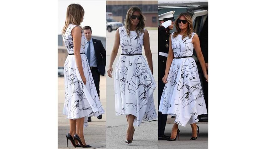 ميلانيا ترامب أغضبت الأمريكيين بسبب ثمن الفستان المرتفع