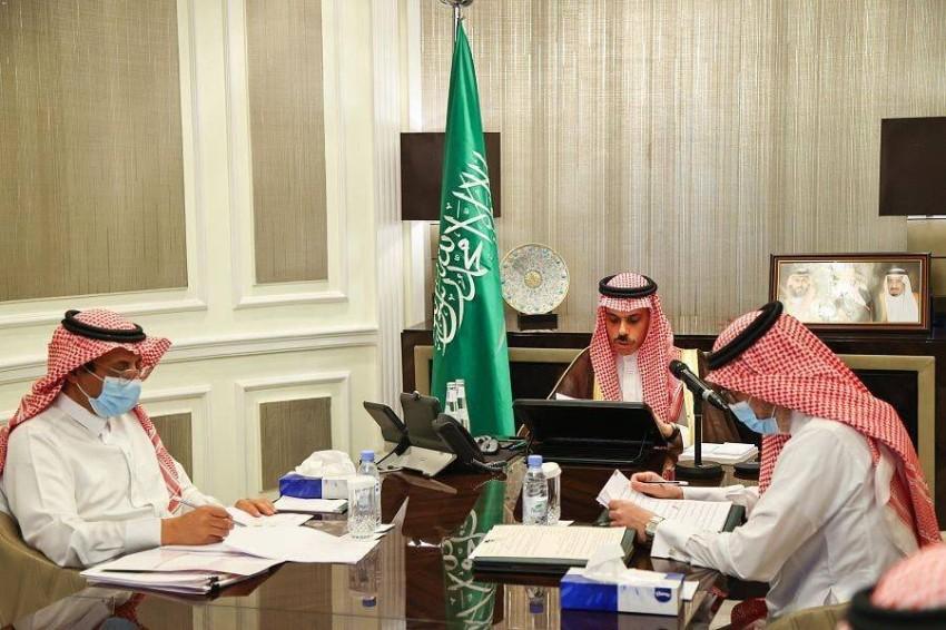 وزير الخارجية السعودي خلال الاجتماع الوزاري العربي الصيني. (من المصدر)