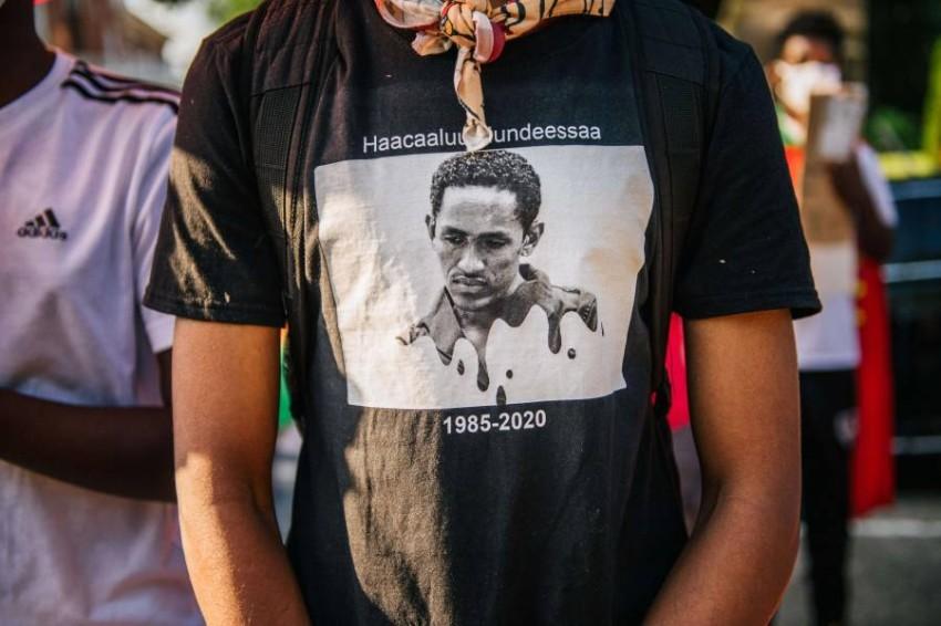 اغتيال المغني الإثيوبي فجَّر احتجاجات واسعة. (أ ف ب)