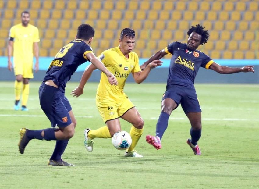 لاعب الوصل ليما خلال مباراة فريقه أمام الفجيرة في الدوري. (الرؤية)