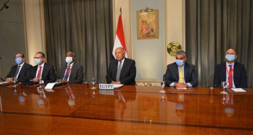 سامح شكري خلال جلسة لمجلس الأمن بشأن ليبيا. (من المصدر)