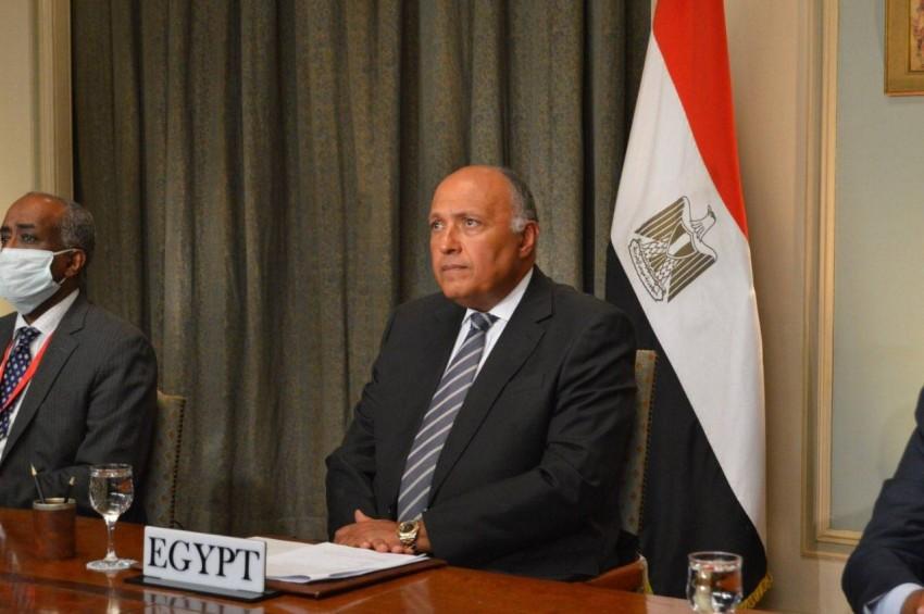 وزير الخارجية المصري سامح شكري. (من المصدر)