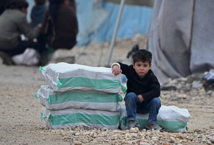 المساعدات الإنسانية بانتظار قرار مجلس الأمن. (أ ف ب)