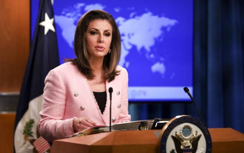 المتحدثة باسم وزارة الخارجية الأمريكية مورغان أورتاغوس. (من المصدر)
