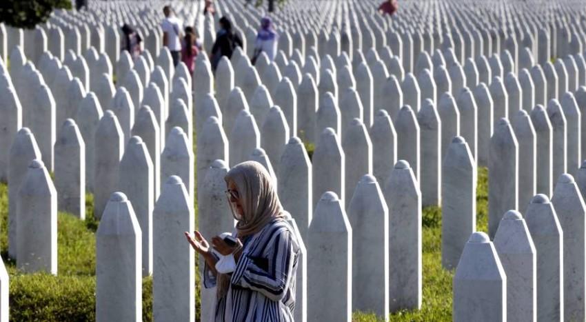 البوسنة تحيي ذكرى المذبحة. (إي بي أيه)