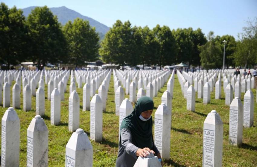البوسنة تحيي ذكرى المذبحة. (رويترز)