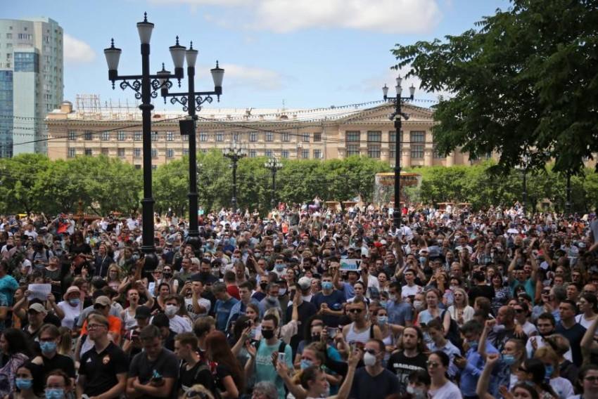 أكبر مظاهرة منذ سنوات. (رويترز)