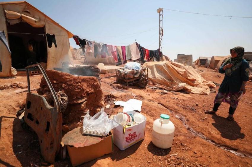 مخيمات نازحين في إدلب. (أ ف ب)