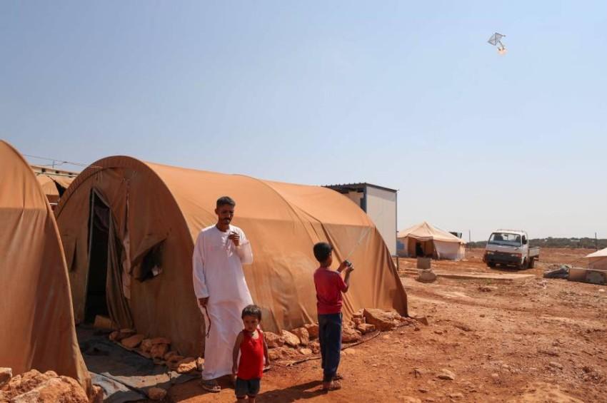 نازحون من المخيمات السورية. (أ ف ب)