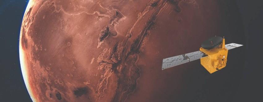 مسبار الأمل مصمم للدوران حول كوكب المريخ ودراسة ديناميكية عمل غلافه الجوي. (الرؤية)