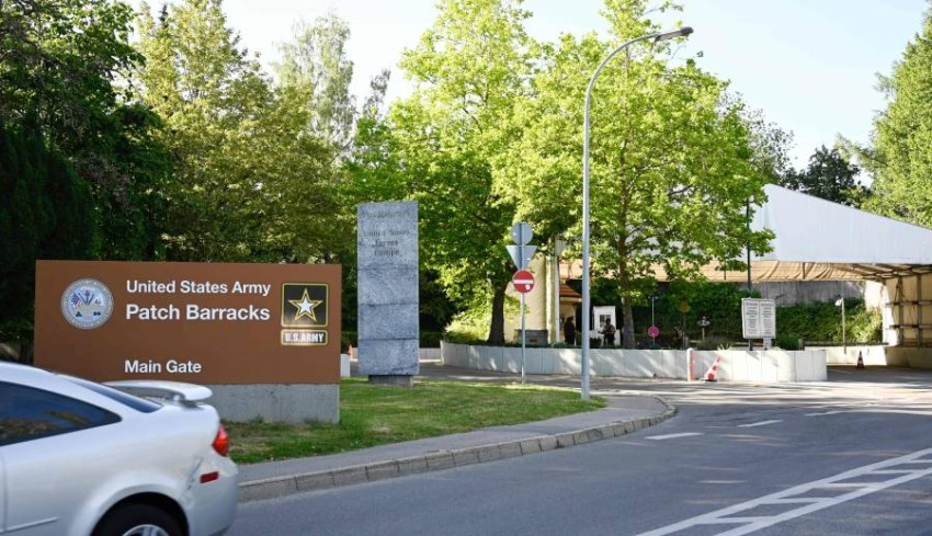 مقر القيادة الأمريكية-الأوروبية في شتوتجارت. (أ ف ب)