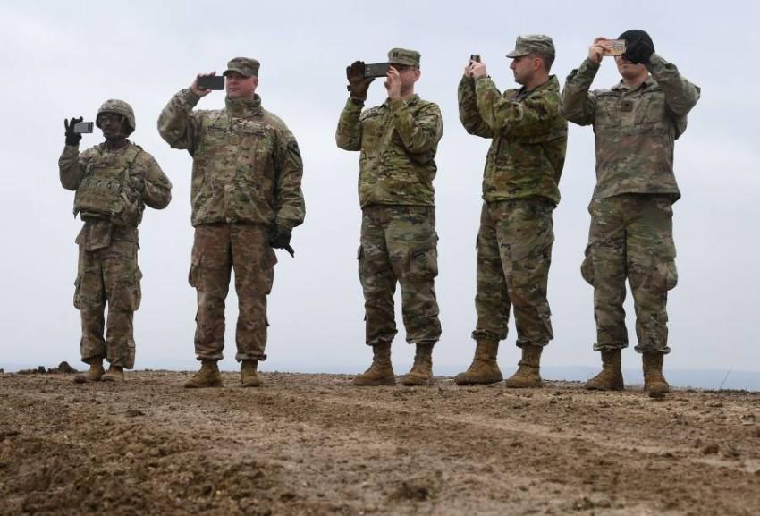 قوات أمريكية مرابضة في جنوب ألمانيا. (أ ف ب)